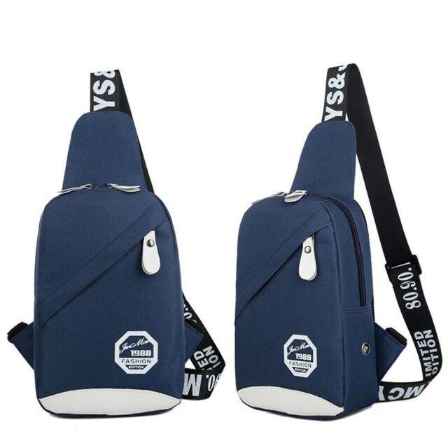 5 Colors Unisex Chest Bag Men Women Waterproof Handbag Zipper Durable Shoulder Casual Fashion Travel Sports Bag