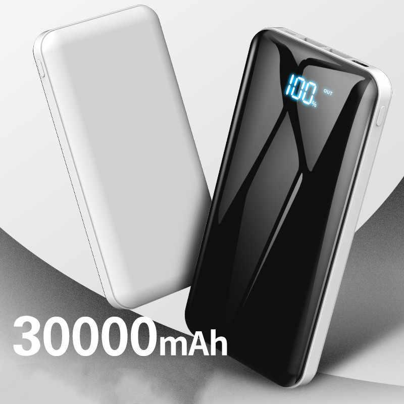 30000mAh Schnelle Lade Power Bank USB Typ C Power Tragbare Lade Power Bank für smart handy Reise Ladegerät
