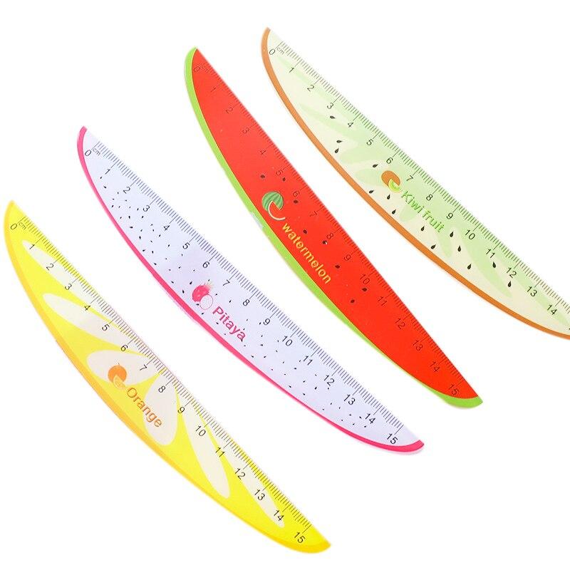 15Cm Cute Kawaii Plastic Ruler Creative Fruit Ruler For Kids Student Novelty Item Korean Stationery