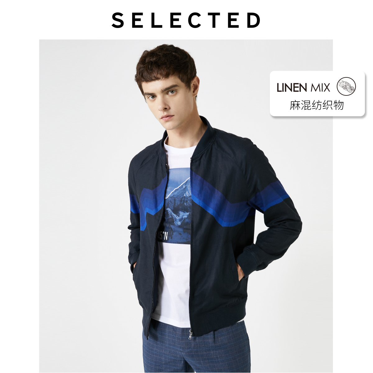 SELECTED Men's Summer Linen-blend Jacket S|419221523