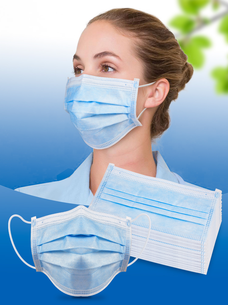 20/40/60/80/100 Pcs Anti-bacteria Proof Face Mouth Masks Earloop-Mask Non Woven Disposable Masks Protection Against Dust