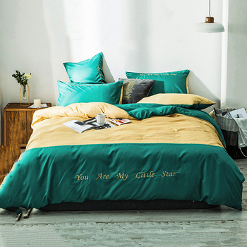 4pcs Bedding Sets 100% Cotton Fashion Stitching Duvet Cover Flat Bed Sheet Comforter Bed Linen Set with Pillowcase Home Textile
