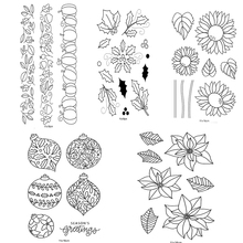 Flowers Transparent Clear Stamps for DIY ScrapbookingCard Making StampNew 2019