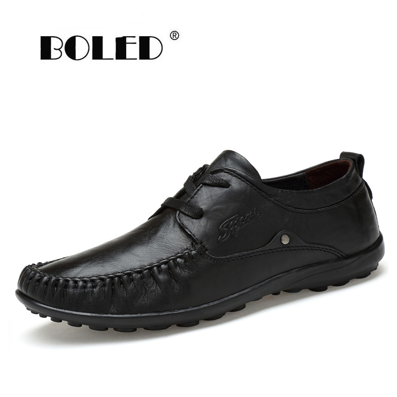 Genuine Leather Men Flats Shoes, Lace Up Mocassin, Two Style Shoes S,Handmade Summer Loafers Zapatos Hombre