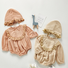 Girls Rompers Jumpsuits Long-Sleeve One-Piece Toddler Newborn-Baby Infant Lace Autumn