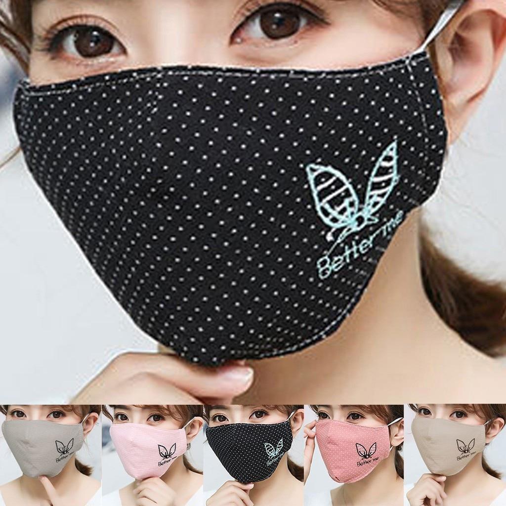 H25413fea025a4ac787e8101f40ab039b4 Kawaii Maska Women Cotton Print Facemask Outdoor Riding Quick-drying Dustproof Keep Warm Mask