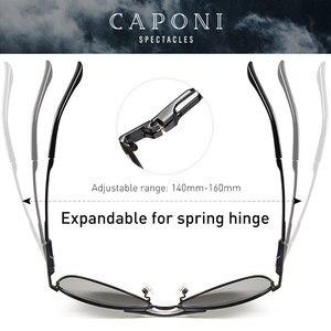 Image 4 - Caponi男性のフォトクロミッククラシックスタイル合金眼鏡ヴィンテージ偏光レンズavation男性UV400 BS8722