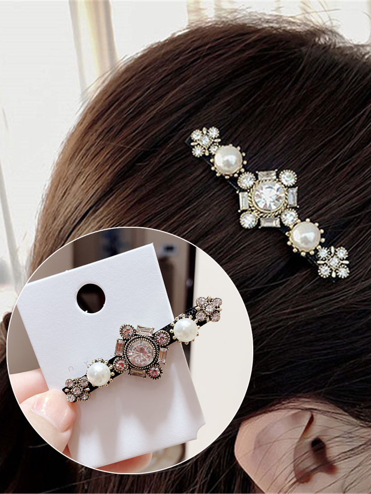Woman Vintage Hairpins Girls Hair Accessories Crystal Barrettes Ladies Geometric Hair Clips Fashion Hair Grips Femme Clips