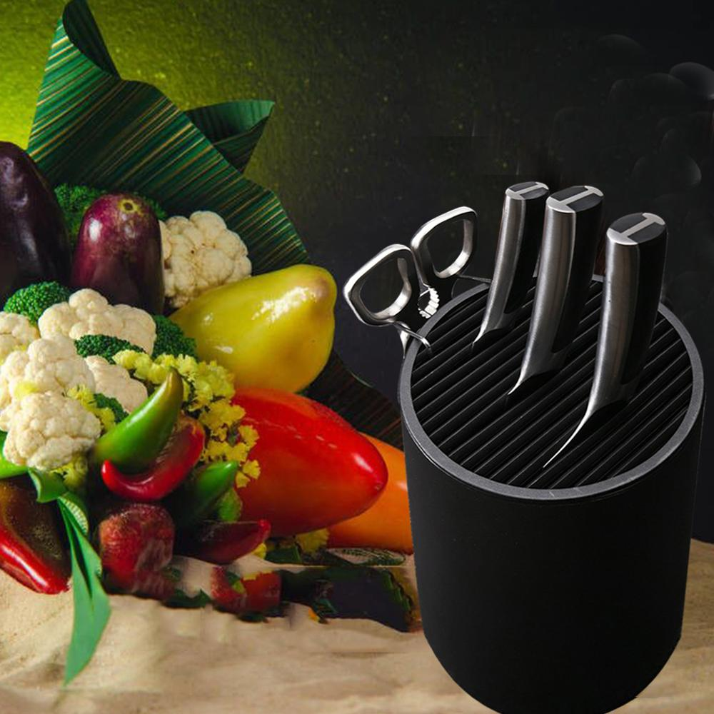 Knife Holder Stand Multi-functional Holder Round Shaped For Space Saver Rack Kitchen Knife Organizer Kitchen Accessories Tools