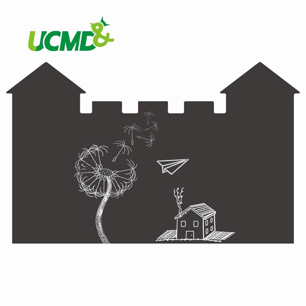 Unique Wall Sticker White Gray Black Green Message Board Erasable Writing Drawing Graffiti Art Home Office Decoration Wallpaper