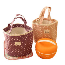 Vogvigo Portable Lunch Bag  Polka Dot Thermal Insulated Box Tote for Cooler Case School Food Storage Picnic Bags
