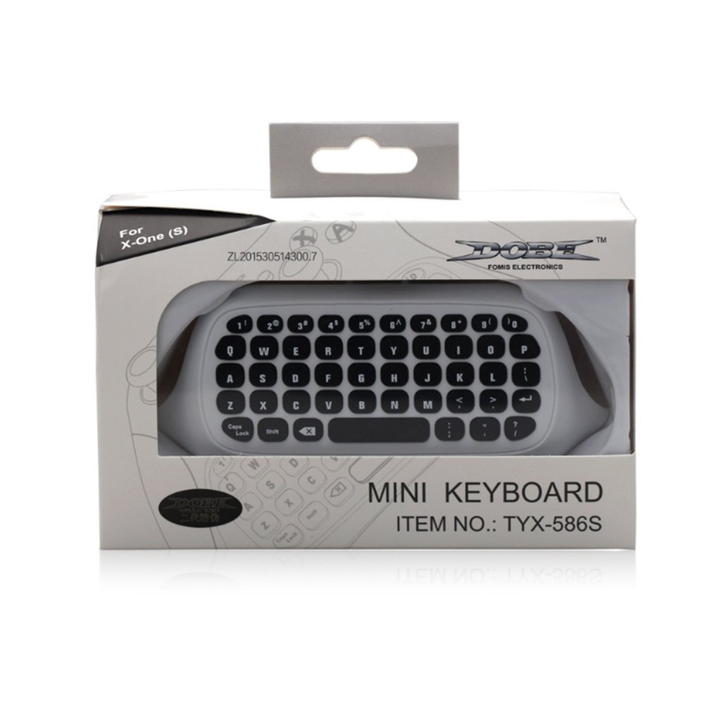 TY-64TYX-586For Xbox One S Chat Pad Mini Gaming Keyboard Wireless Chat Message KeyPad With Audio/Headset Jack For Xbox One