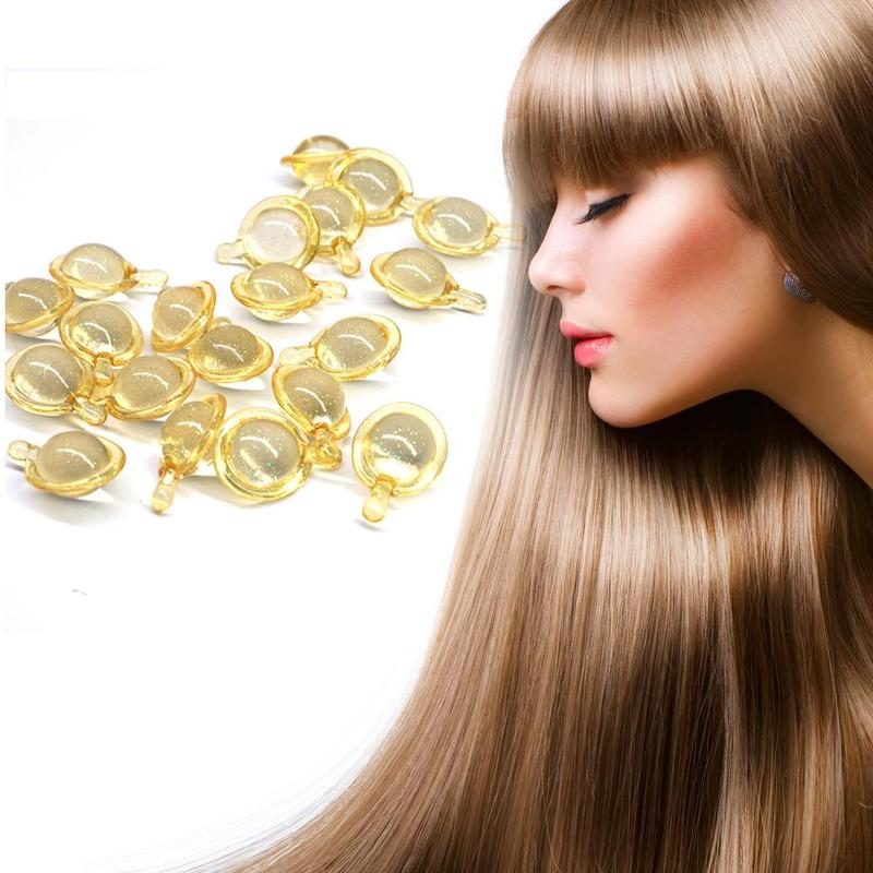 10pcs Hair Vitamin Capsule Pro Keratin Complex Oil Hair Mask Repair Damaged Hair Serum Moroccan Argan Oil Hair Magical Treatment