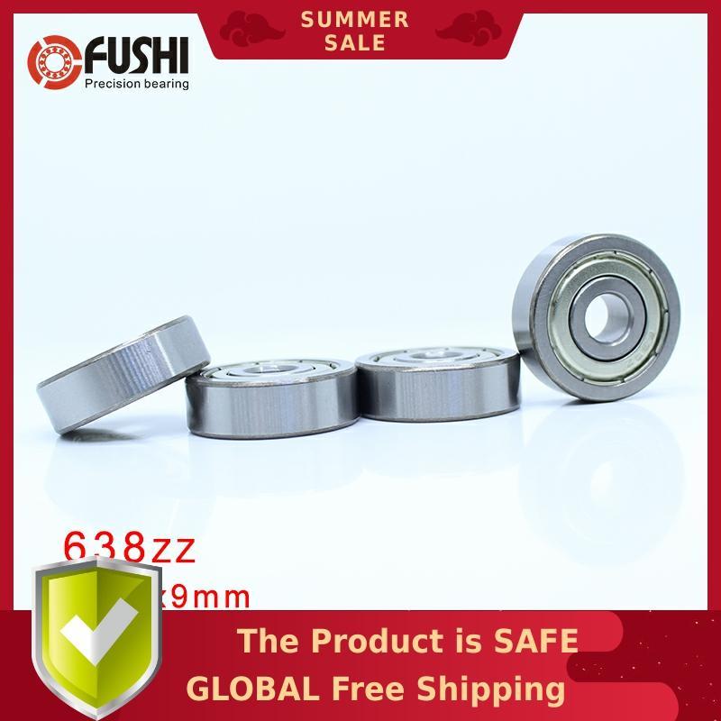 638ZZ Bearing 8*28*9 mm ( 4 Pcs ) ABEC-1 Grade 638Z Miniature 638 ZZ Ball Bearings