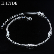 H:HYDE Boho Silver Color Anklet Bracelet on The Leg Heart Beads Star Dolphin Ankle for Women Chain Beach Foot Jewelry цена