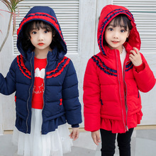 Children Clothes Baby Girls Hooded Jacket For Girls Coat Cartoon Lovely Winter Keeping Warm Hooded Thick цена 2017