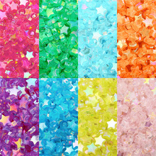 100Pcs/lot 11x10mm DIY Beads Transparent AB Color Stars Acrylic Loose Spacer Beaded for Jewelry Making Bracelet Accessories