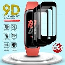 Protecteur décran pour Samsung Galaxy Fit2 Fit 2, 3 pièces, Film de protection souple incurvé 9D, couverture complète, accessoires de bracelet intelligent
