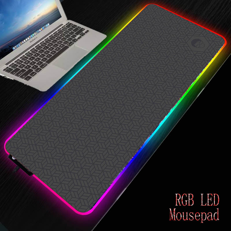 MRGBEST Dark Gray Wallpaper Gaming Mouse Pad Computer Mousepad RGB Large Mouse Pad Gamer XXL Mouse Big Mause Pad PC Play Mat