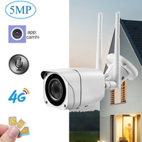 5MP HD 4G sim-карта GSM IP камера 1080P беспроводная wifi наружная камера безопасности CCTV металлическая P2P Onvif двухсторонняя аудио камера