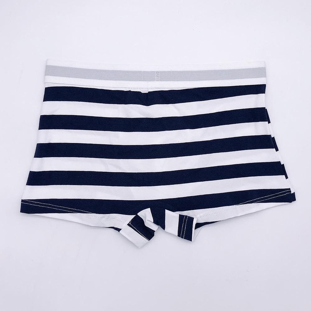 fashion striped cotton men boxers casual colorful barnd short boxers male cotton panties bud211