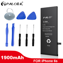 PALO Original Mobile Phone Battery For iPhone 6S Replacement Batterie High Capacity Internal Bateria