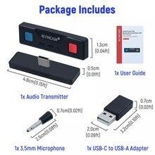 Honcam-transmisor de Audio inalámbrico ultradelgado, Adaptador convertidor para Nintendo Switch/Lite/PS4/PS5/PC (HC-A3518)