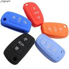 Средства защиты оболочки крышка чехол для Audi C6 A7 A8 R8 A1 A3 A4 A5 Q7 A6 C5 3B силиконовый чехол ключа автомобиля