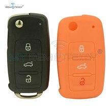 цена на Remtekey 5K0837202AD flip key for VW Beetle Golf Jetta Eos Polo Tiguan caddy scirocco touran up for VW 202AD silicone key bag