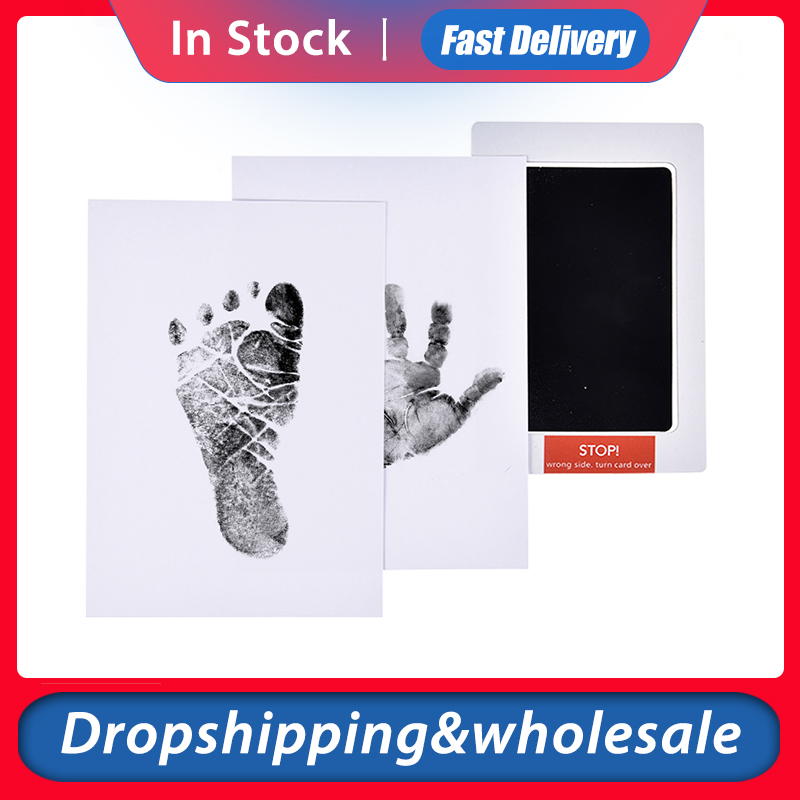 Baby Footprints Handprint Ink Pads Pet Paw Prints Souvenir Safe Non-toxic Ink Pads Kits For Baby Pet Wholesale Dropshipping