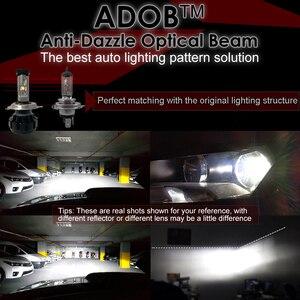 Image 3 - CNSUNNYLIGHT Super Helle Auto LED Scheinwerfer Kit H4 H13 9007 Hallo/Lo H7 H11 9005 9006 w/ XHP50 chips Ersatz Lampen 6000K Lichter