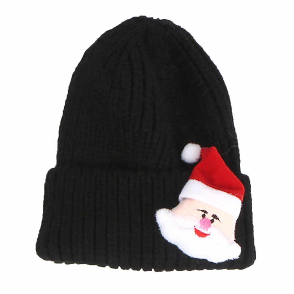 Czapka dla niemowląt nowonarodzone dziecko niemowlę dziewczyna czapka dzieci dzieci Cartoon boże narodzenie moda czapka unisex ciepłe dzianiny drukowane czapki # C
