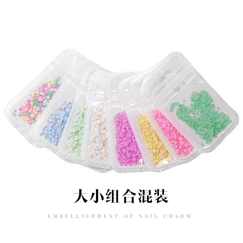1 pièce/ensemble Diamant Fluorescent Super Flash Manucure Produits À Fond Plat Ornements Flavorstone Diamant Lumineux T1671