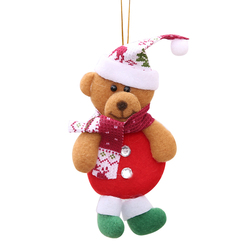 2019 Merry Christmas Ornaments Gift Santa Claus Snowman Tree Toy Doll Hang Decorations For Home Christmas Party New Year Gift 2