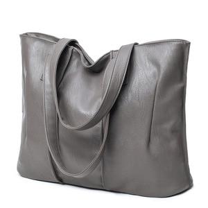 Image 4 - Sac à épaule en PU souple pour dames, sacoche européenne et américaine de bonne qualité de luxe, sacs à main de Shopping grande capacité 2019