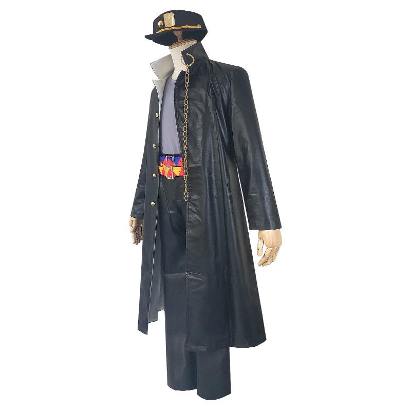 Anime JOJO'S BIZARRE VENTO AUREO Golden Wind Kujo Jotaro Outfit Suit Cosplay Costumes Halloween Adult Man Women Party Costumes