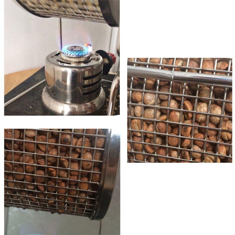 MOLF Protable Manual Handy Coffee Bean Roaster Set Stainless Steel Mill Hand Crank