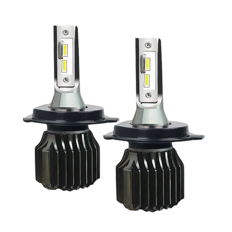 bombilla h7 led h11 h3 h1 h4 near far light 9005 9006 hb4 hb3 9012 hir2 fanless car headlight h1 led lamp pair car accessories