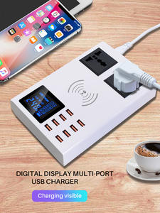 Fast-Charger Station Mobile-Phone Led-Display QI Wall 8-Ports Wireless 8-7plus-X-Xiaomi