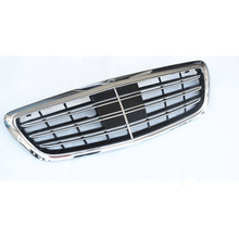 Car styling Middle grille for Mercedes-Benz S-Class W222 AMG S65 S300 S400 S500L ABS plastic front grille vertical bar for mercedes benz gla x156 front grille silver abs gla45 amg gla180 gla200 gla250 without central logo front racing grille 14 16
