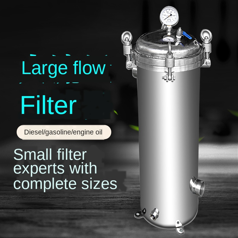 Tanker Equipment Stainless Steel Large Flow Industrial Sewage Liquid Sediment Cloth Bag Precision Diesel Oil Bag Type Filter