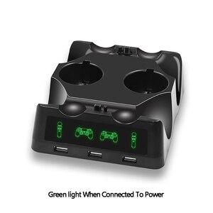 Image 3 - Station de chargeur de manette pour PSVR PS4 Base VR poignée support de support de contrôleur PS déplacer le jeu de mouvement Joystick Station de charge pour PS
