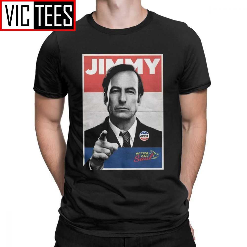Memilih Jimmy Pengacara Panggilan Yang Lebih Baik Saul Kemeja Pria Goodman Tv Series Tee Lengan Pendek T-Shirt Katun Murni ide Hadiah Atasan