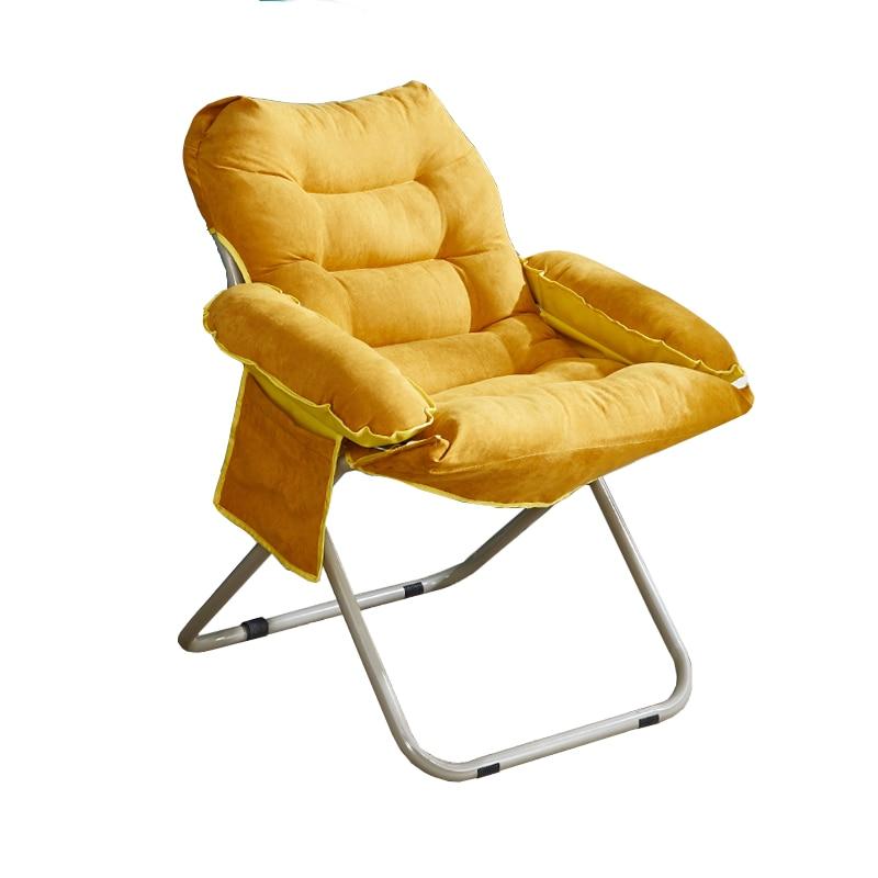Creative Lazy Single Sofa Chair Leisure Folding Dormitory Computer Chair Home Bedroom Modern Minimalist Balcony Deck Chair