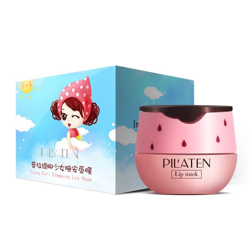 Holika Korean Cosmetics Pil'aten Young Girl Sleeping Lip Mask Pink Strawberry Aroma Fade Lips Lines Long-lasting Moisturizing