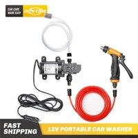 12V Auto Washer Gun Pumpe selbstansaugende Hochdruck Auto Elektrische Außen Tragbare Waschmaschine Reinigung Gerät Für auto Waschen