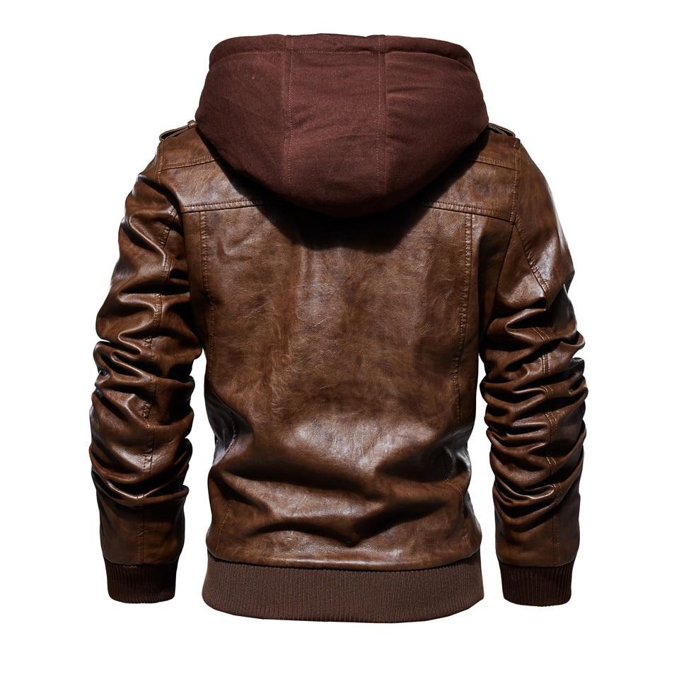 H2543824081ec4ed6917d750660f9db93J Mens PU Jackets Outwear Leather Hooded Biker Coat Men 2019 Cool Motorcycle Jacket Male Winter Autumn Jaquetas De Motocicleta 4XL