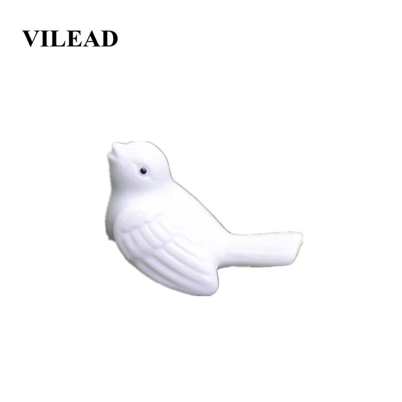 VILEAD 3.3cm White Ceramic Bird Figurines Animals Ornaments Home Decoration Accessories Christmas Decorations For Home Souvenir