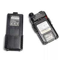 vhf uhf שדרג 8W Baofeng UV-5R VHF Talkie Walkie / UHF Handy Dual Band CB שני הדרך רדיו משדר 3800mah Li-thium סוללה (5)