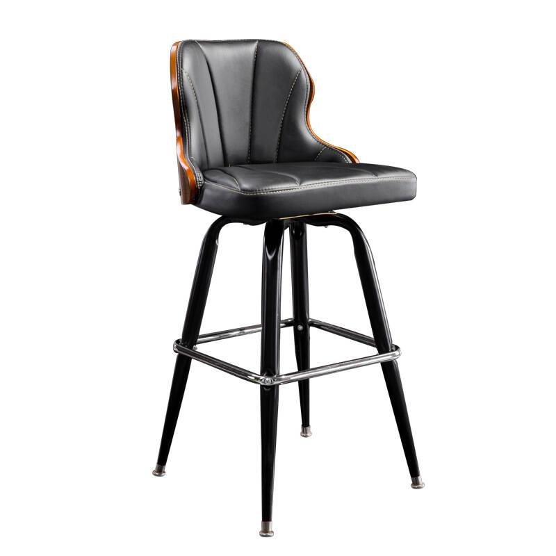 High-grade European Iron Art Bar Chair Retro Solid Wood Bar Chair Lifting Backrest Bar Chair Front Desk Revolving High Stool